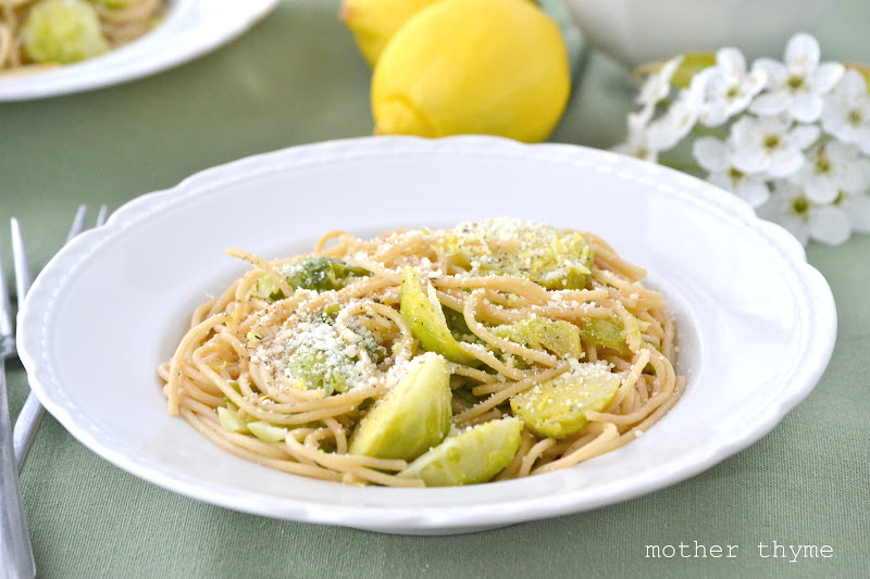 Spaghetti with Brussels Sprouts and Lemon Butter | www ...