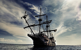 Old Ship Water Colds Waves HD Wallpaper