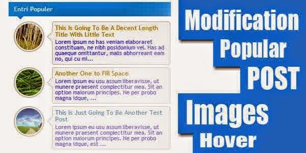 Memodifikasi Popular Post Bulat , Berwarna dan Berputar Di sidebar Blog