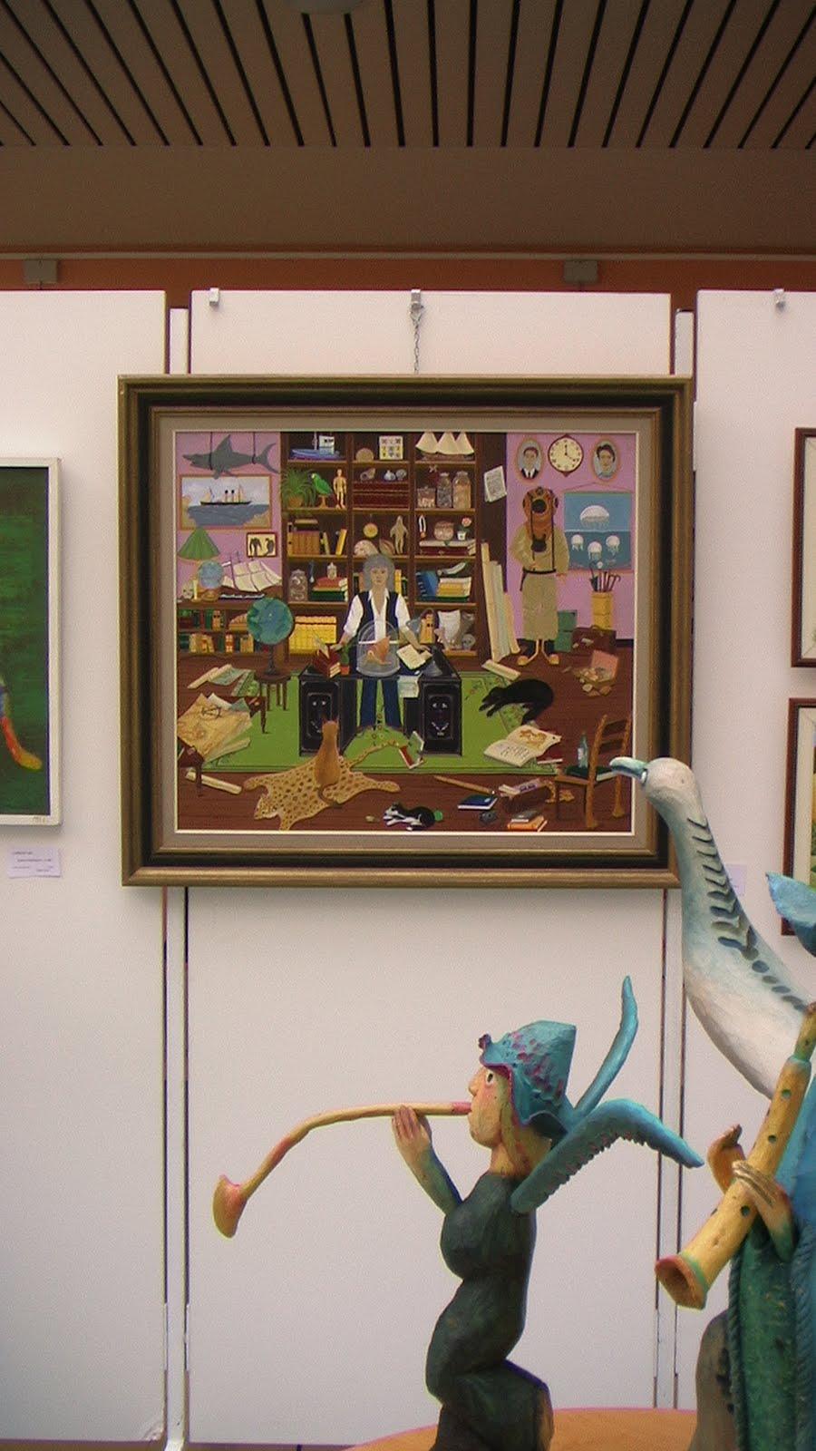 Corinne delhaye peinture vernissage de la biennale d for Biennale artisanat d art