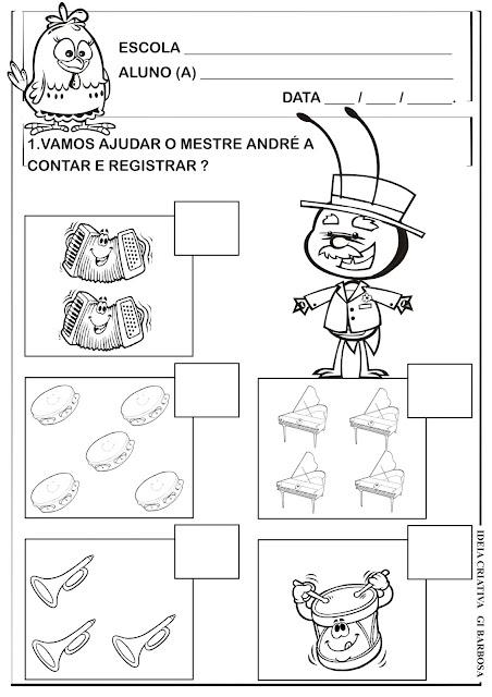 Atividade Matemática Galinha Pintandinha A Loja do Mestre André