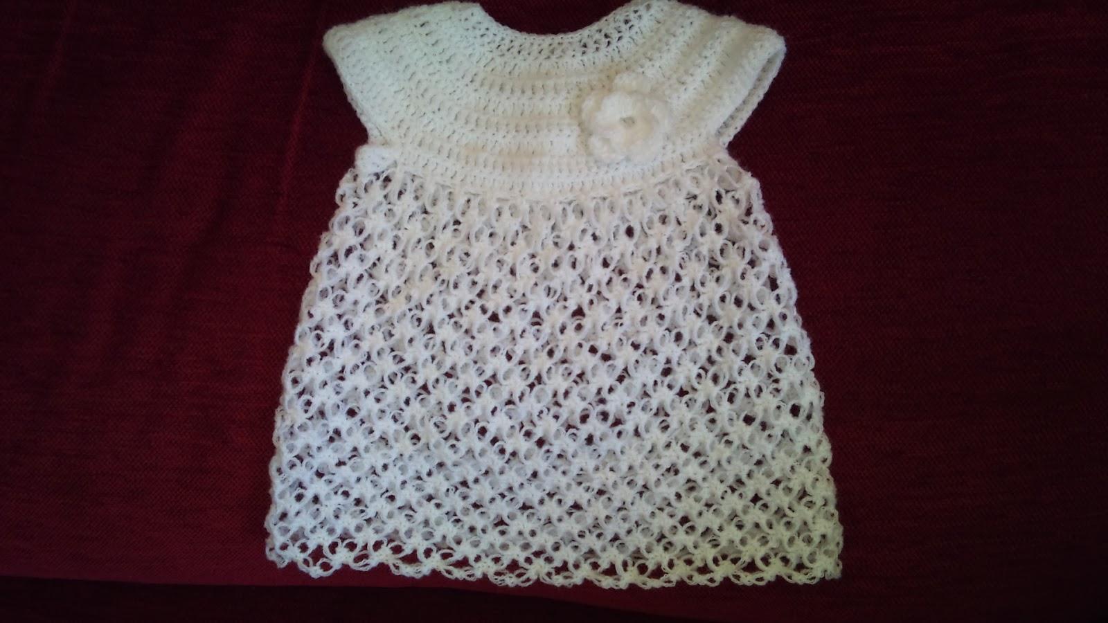 Labores de punto y crochet vestido de ganchillo para bebe - Labores de crochet para bebes ...