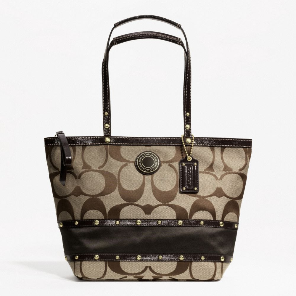 COACH F19249 tote bag GALLERY SIGNATURE ZIPPER TOTE BAG