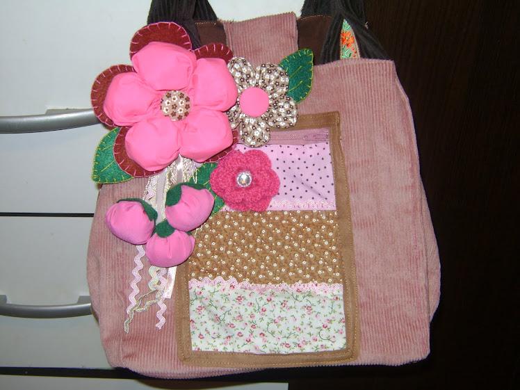 Bolsa caixa de Veludo