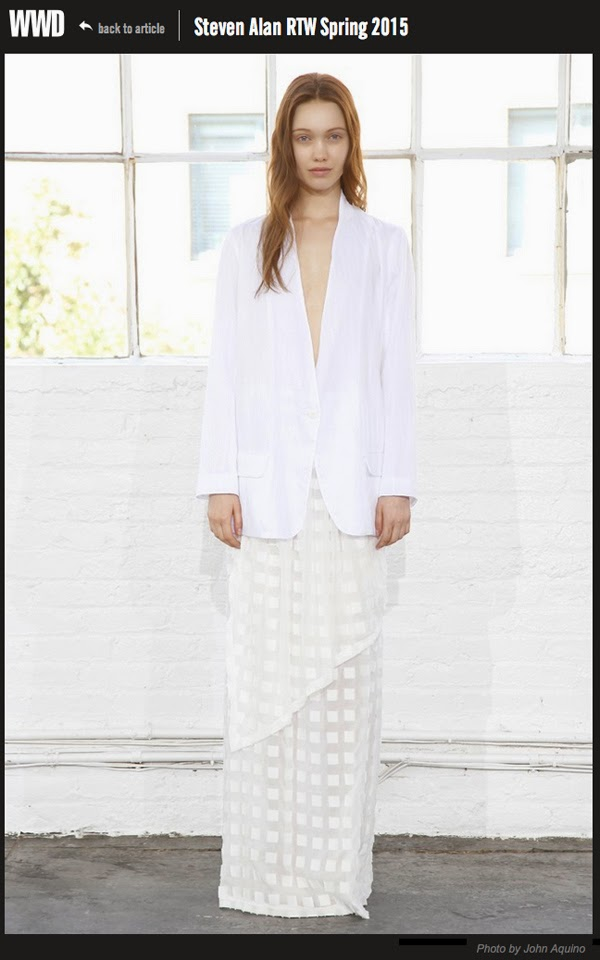 Haley Sutton - Cast Images - Steven Alan RTW Spring 2015 - WWHaley Sutton - Cast Images - Steven Alan RTW Spring 2015 - WWD - John AquinoD