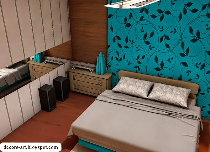 Turquoise bedroom ideas turquoise wallpaper for Turquoise wallpaper for bedroom