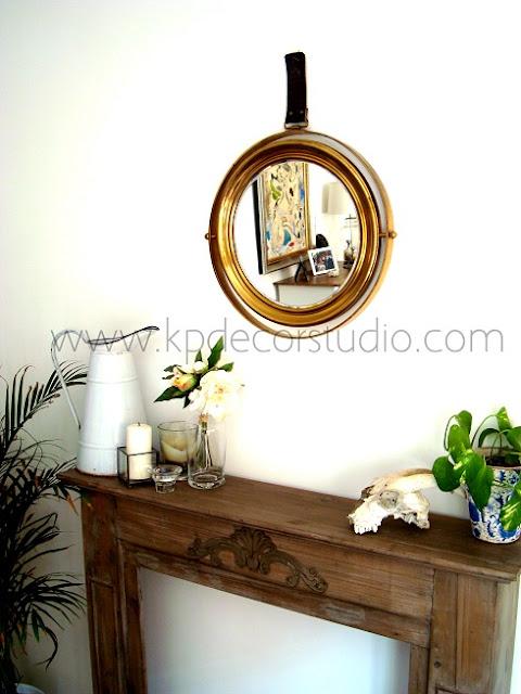 Kp tienda vintage online espejo antiguo de lat n brass for Espejos decorativos dorados
