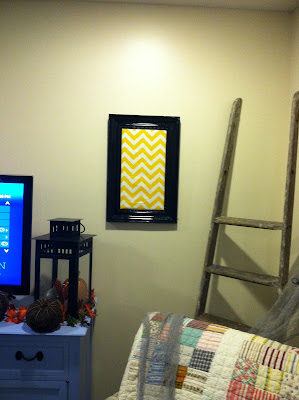Chevron Fabric Wall Art {rainonatinroof.com} #chevron #wall #art