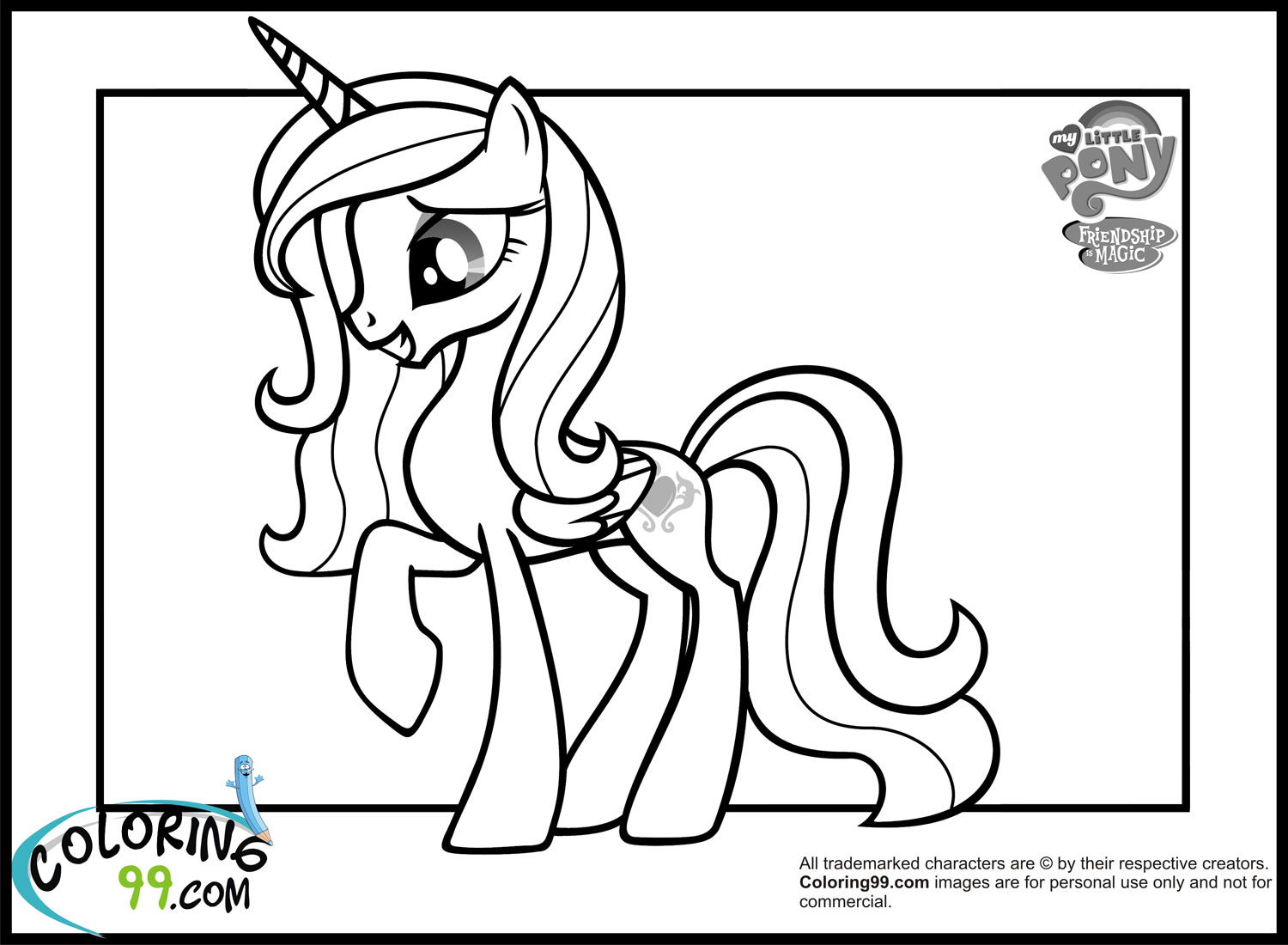 Princess Cadence Coloring Pages Minister Coloring Princess Cadence Coloring Page Printable