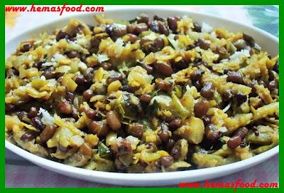 Bobbaralu Beerakaya Kura- Black eyed peas & Ridge gourd curry