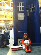My friend's daughter as Amelia Pond in front of the TARDIS