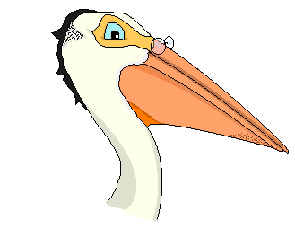 ocean pelican cartoon with glasses