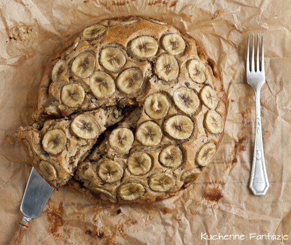 ciasto, jogurt, przepis, banany, cynamon, likier, czekolada