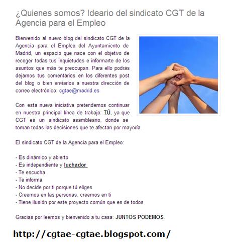 Cgt agencia para el empleo octavilla cgt ae madrid for Agencia de empleo madrid