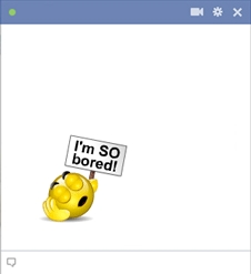 So Bored - New Facebook Smileys