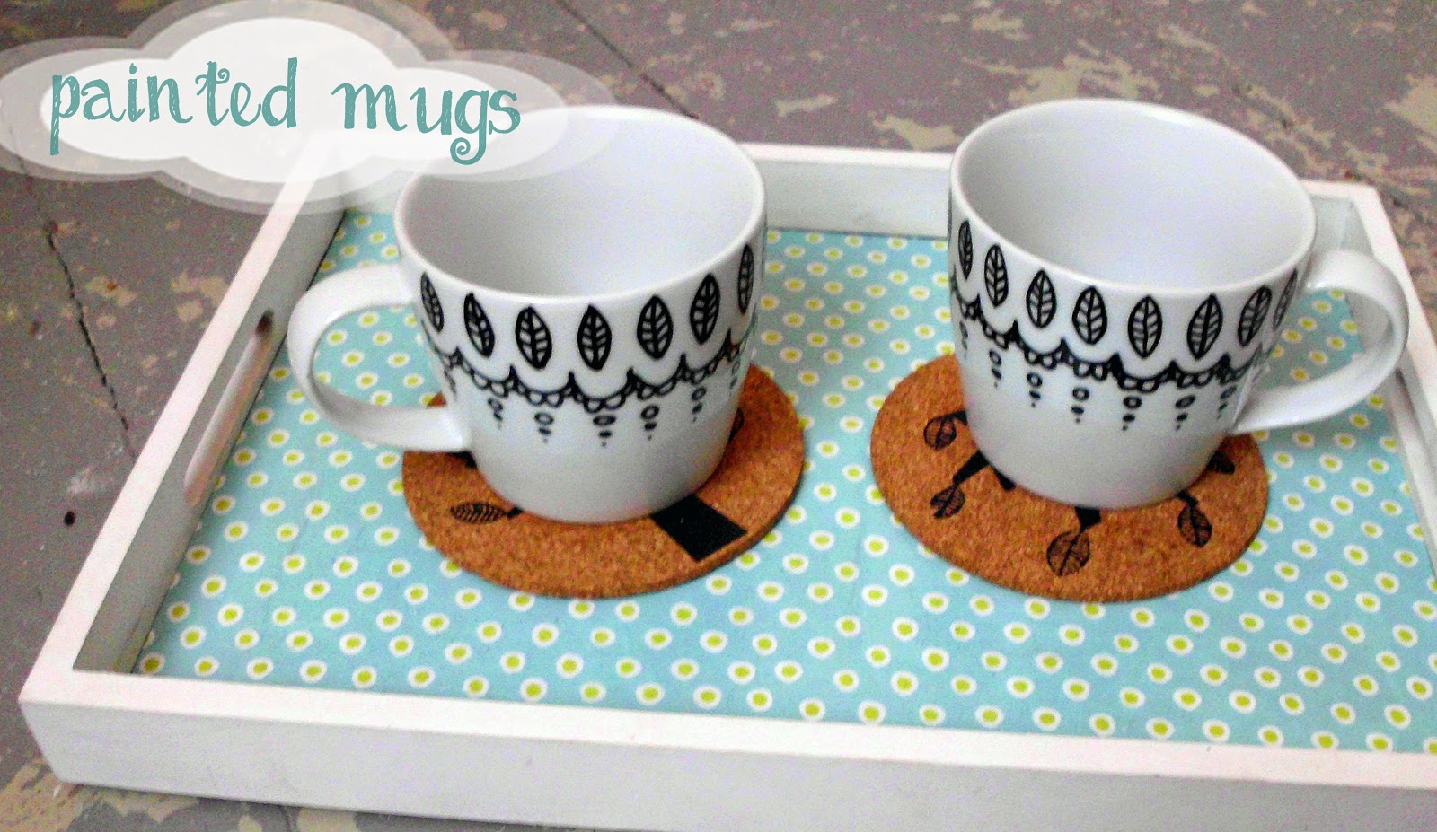 Curious And Catcat Painted Mugs