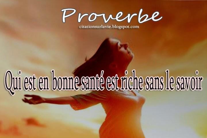 Les proverbes sur la santé