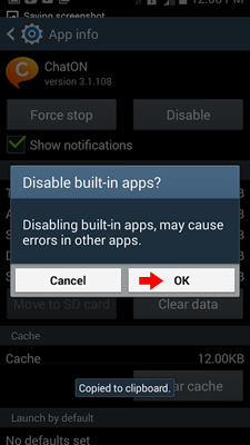 disable built-in apps