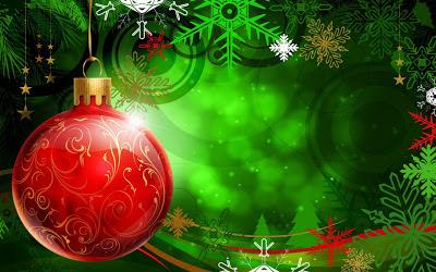 Papel de Parede Enfeite Bola de Natal
