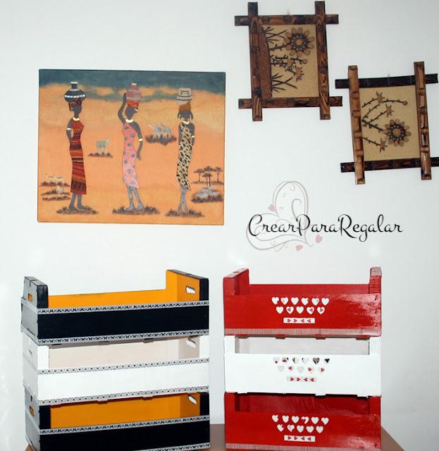 manualidades cajas de madera de fruta