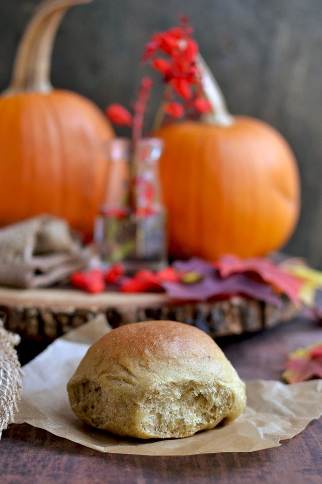Golden Pumpkin Dinner Rolls