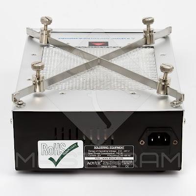 Тыльная сторона кварцевого инфракрасного преднагревателя плат AOYUE Int 853A