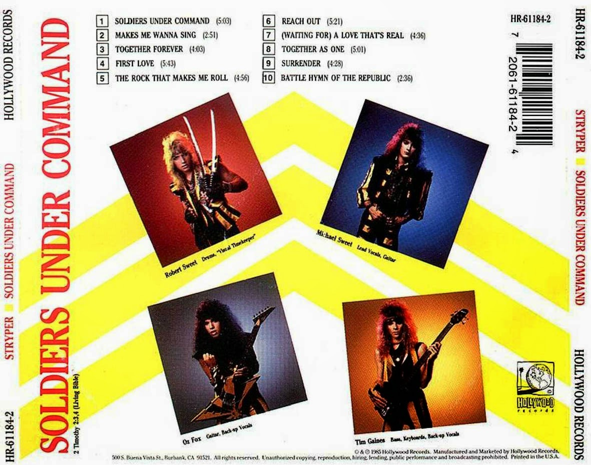 Stryper Soldiers Under Command Vinyl Stryper Soldiers