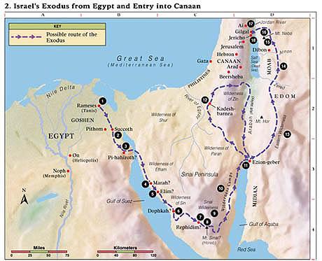 Jewish Bubba Meeting The Amaleks And Midianites On The Exodus - Map of egypt goshen
