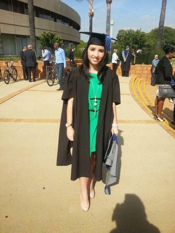 Marisa da Silva Graduating from University of Pretoria