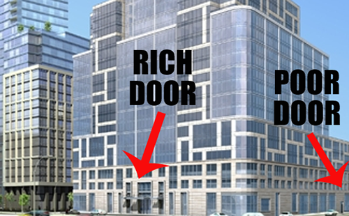 Controversial NYC Building Has Two Doors Of Entrance One For The Rich And