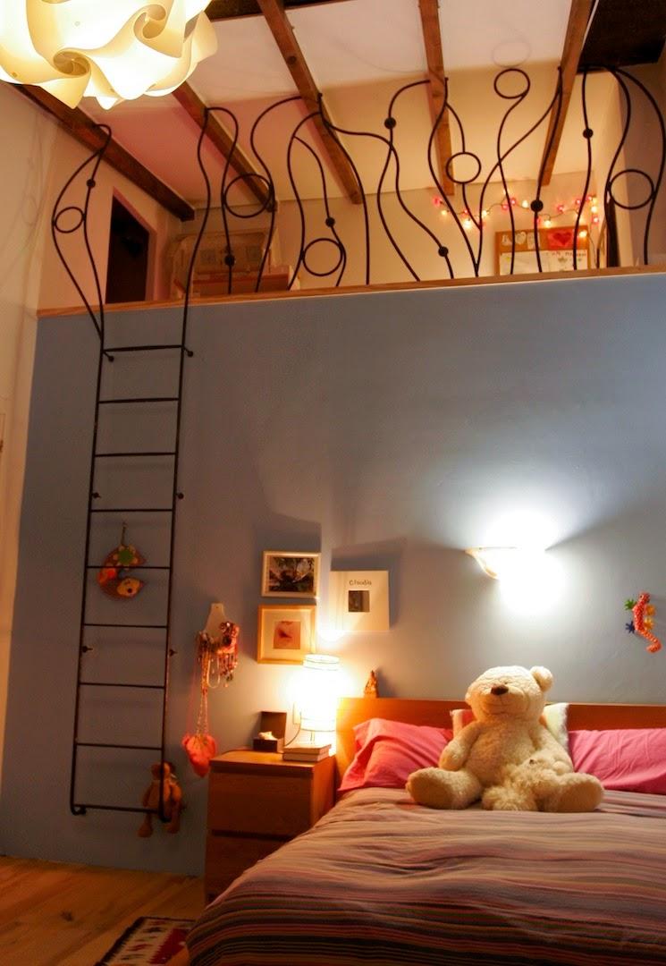 """barandilla """"Clau"""", barandilla de forja para un altillo en una habitación infantil,forjacontemporanea 2014"""