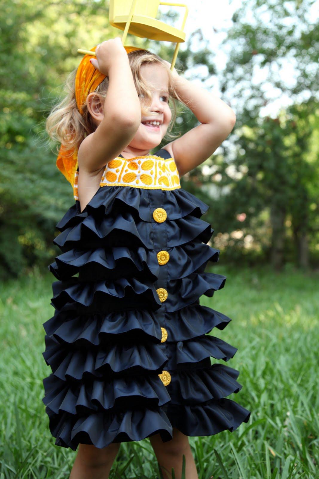 Сшить платье с оборками