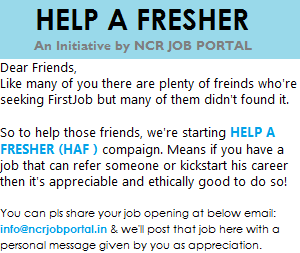 An Initiative by NCR JOB PORTAL
