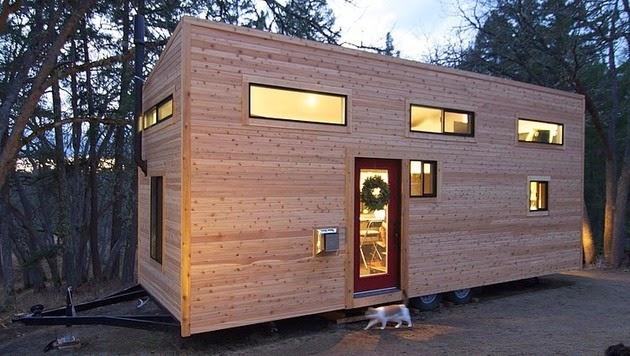 Rumah Kayu Portable Kecil Unik | Rancangan Desain Rumah Minimalis