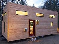 Rancangan Rumah Kayu Portable Kecil Unik