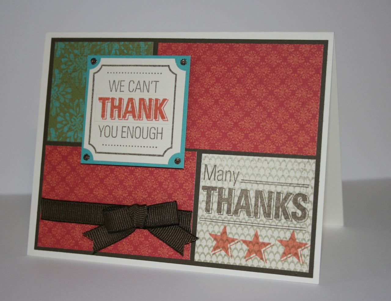 Karen Pedersen: Thank You Card: February CTMH Stamp of the Month