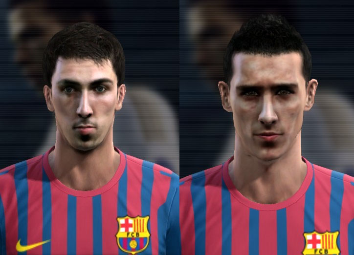 PES 2012 Cuenca & Tello Faces by Jelly