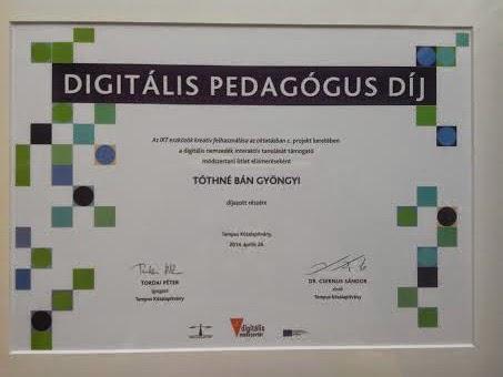 Digitális Peadgógus Díj 2014