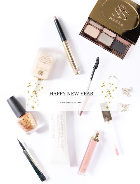 new years eve look, makeyp flatlay