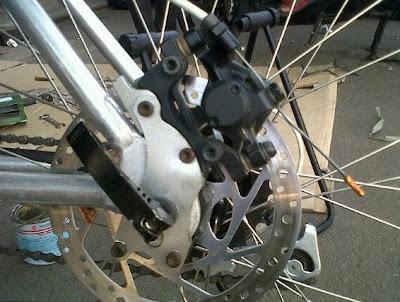 adaptor kaliper disc brake untuk mtb jadul