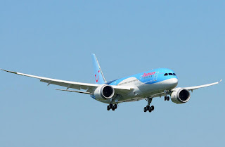 Thomson Airways' first Boeing 787 at Boeing's Paine Field