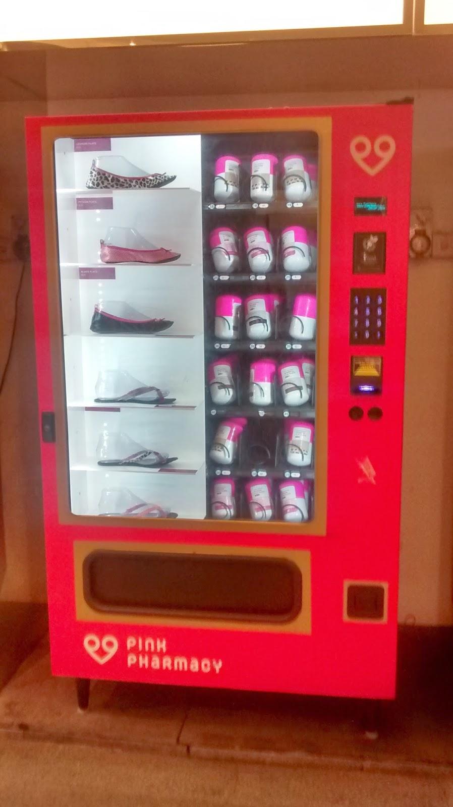 shoe vending machine in clubs
