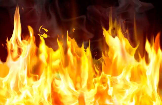 Пожар в бане на Северном
