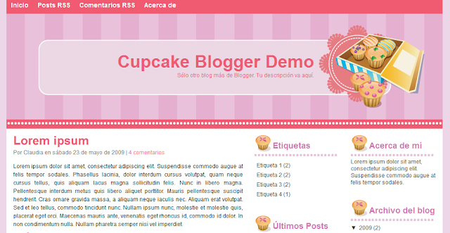 Baking Theme Blogger Template