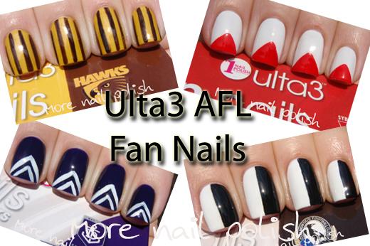 Ulta3 afl fan nails more nail polish prinsesfo Images