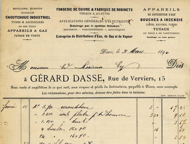Facture de 1894