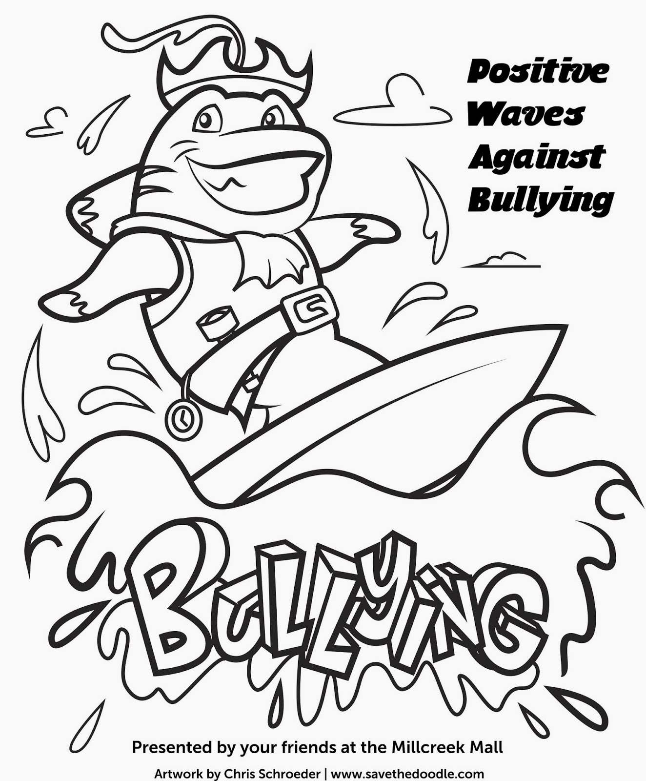 Bullying Prevention Drawings Bullying Coloring Pages