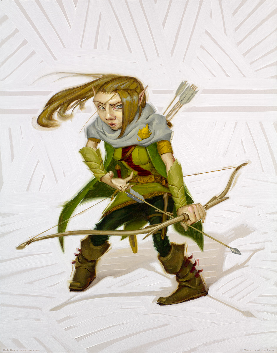 Forest Gnome Ranger by Rob Rey - robreyart.com - D&D 5th Edition Player's Handbook