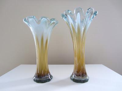 vintage et distinction vases uniques en verre souffl 100 l 39 ensemble. Black Bedroom Furniture Sets. Home Design Ideas