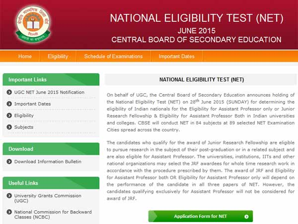 cbse net exam june 2015